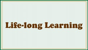 Life-long learning button-field theme-aqua 10% of tint- bordered