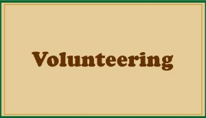Volunteering button with border-Field theme-tan