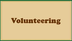 Volunteering button with border-Field theme-tan