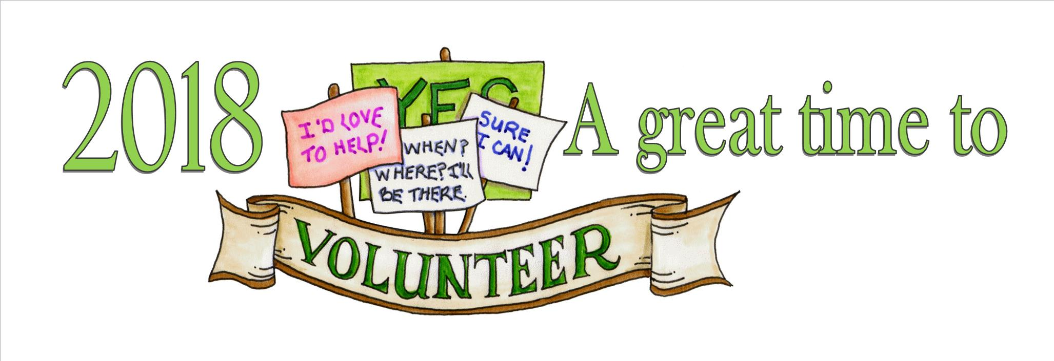 Click for a list of Volunteering Opportunities!